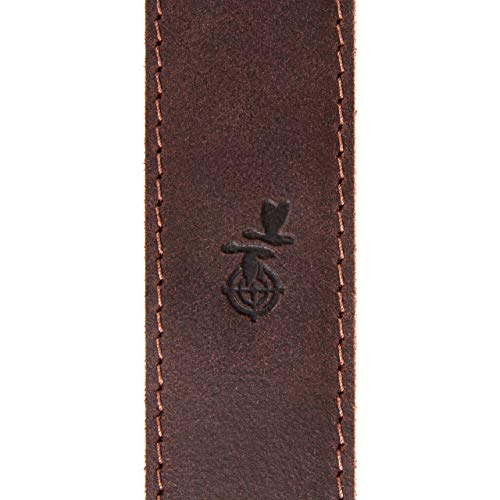 Free2Buy  3 Free2Buy Rifle Sling Gun Shoulder Genuine Leather Adjustable Belt for Hunting Outdoor Tactical Shotgun Sling Strap Shotgun Embossed