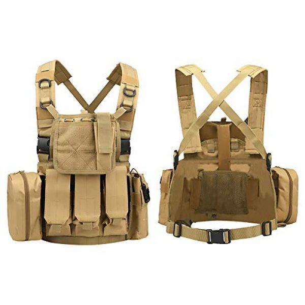 WEQ Airsoft Tactical Vest 4 WEQ Multifunctional Tactical Vest Modular Vest Reconnaissance Field CS Combat Vest (Color : #E)