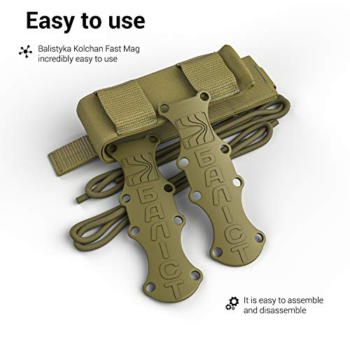 ATAIRSOFT  5 ATAIRSOFT KOLCHAN Fast MAG Tactical Top Open Single 9mm and 7.62mm Pistol Magazine Holder Very Durable of 1000 D Cordura fastmag Holster and MOLLE Compatible Airsoft Hunting Shooting