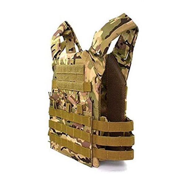 HAOWUTX Airsoft Tactical Vest 2 HAOWUTX Tactical Vest, Outdoor CS Game Military Ultralight Breathable Vest, Used for Hunting Training Military Fans Tactical Vest