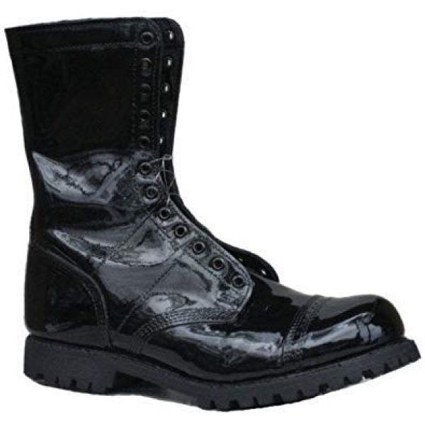 Leather Luster Combat Boot Polish 2 Hi Gloss Brilliant Patent Leather Finish 4 Ounce - Black