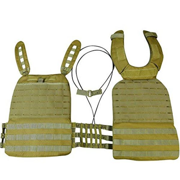 JFFCE Airsoft Tactical Vest 3 JFFCE Tactical Vest Fully Adjustable for Shooting Hunting Outdoor Activities