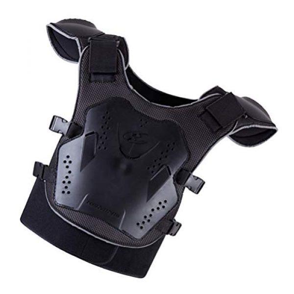 BESPORTBLE Airsoft Tactical Vest 3 BESPORTBLE Children Protective Vest Gear Safety Armour Jacket Protection Vest Protective Gear for Sports Kids Outdoor (Black)