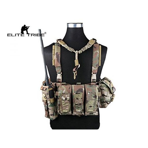 Paintball Equipment Airsoft Tactical Vest 4 Paintball Equipment Emerson Molle System Low Profile Chest Rig Multicam MC