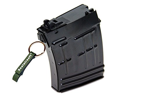 WE  1 WE 21rds Airsoft Gas Magazine For SVD ACE-VD Series GBB Black -Mobile Ring Included