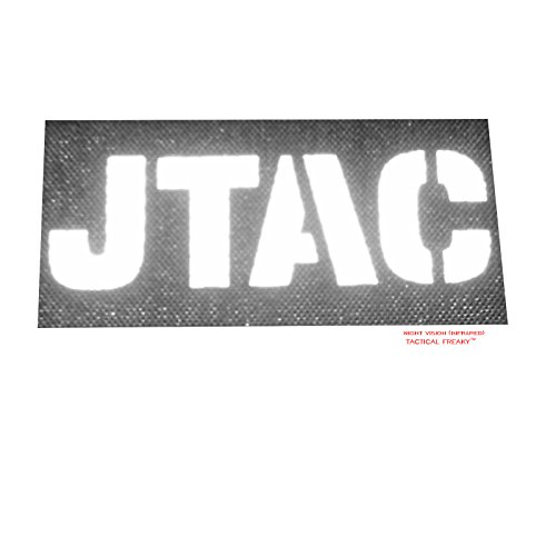 Tactical Freaky Airsoft Morale Patch 4 Blackout JTAC Joint Terminal Attack Controller Air Support FAC Infrared IR 3.5x2 Tactical Morale Touch Fastener Patch