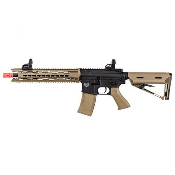 Valken Airsoft Rifle 1 Valken Tactical AEG V2.0 TRG Battle Machine Airsoft Rifle, Black/Dust, Medium
