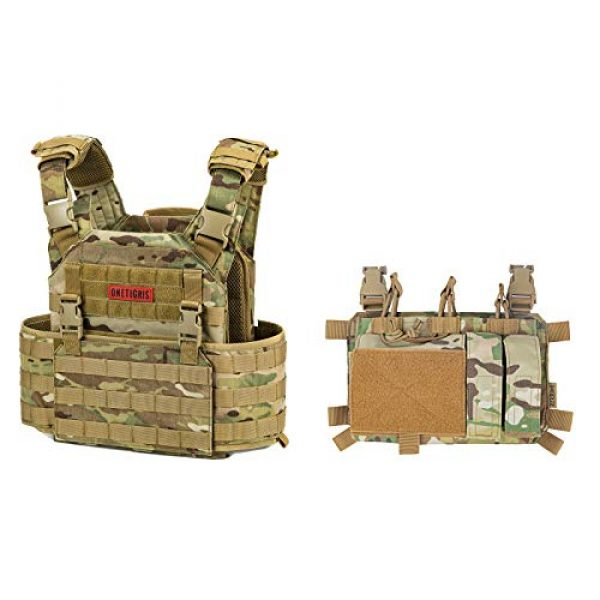 OneTigris Airsoft Tactical Vest 1 OneTigris Airsoft Tactical Vest & Triple Mag Pouch with Utility Pouch Tactical Placard 01