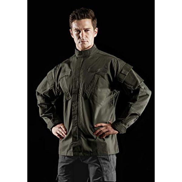CQR Tactical Jacket 4 Men's Combat Military Jacket, Water Repellent Ripstop Army Fatigue Field Jacket, Outdoor EDC Tactical ACU/BDU Coat