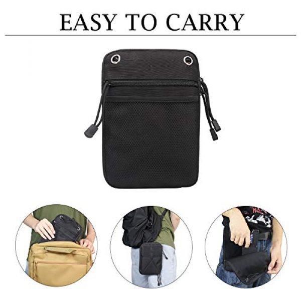 Kosibate Pistol Case 5 Kosibate Concealed Gun Pouch, Multipurpose Carry Pistol Holster Pack Waist Bag for Handgun with Belt Loops -Black