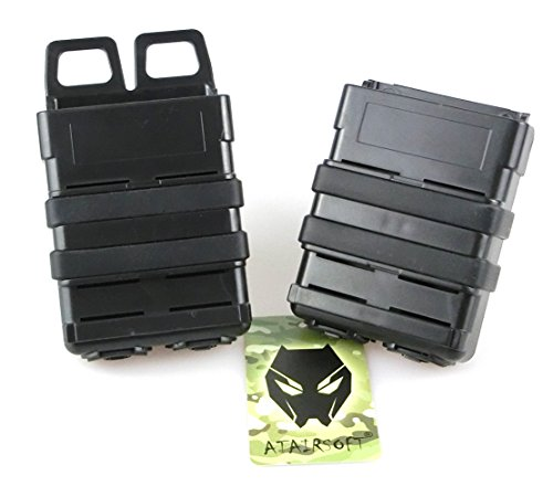 ATAIRSOFT  3 ATAIRSOFT Tactical FastMag Molle Pouch Double 5.56 Magazine Holster Bag for AR M4 M16