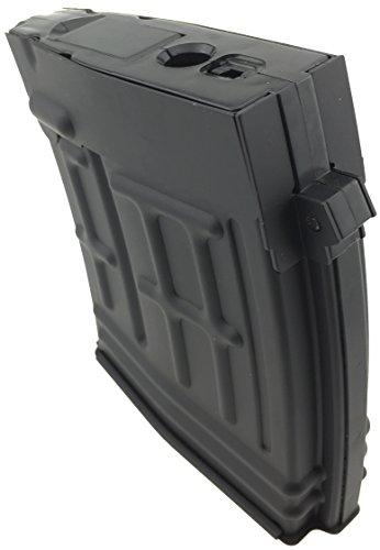SportPro  4 SportPro CYMA 120 Round Metal High Capacity Magazine for AEG Dragunov SVD 3 Pack Airsoft - Black