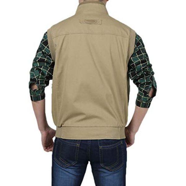 DAFREW Airsoft Tactical Vest 2 DAFREW Men's Vest Outdoor Leisure Vest Cotton Sleeveless Jacket Autumn and Winter Warm Multi-Pocket Vest Vest (Color : Khaki, Size : XL)