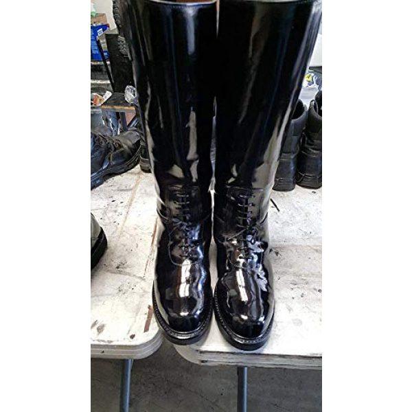 Leather Luster Combat Boot Polish 4 Hi Gloss Brilliant Patent Leather Finish 4 Ounce - Black
