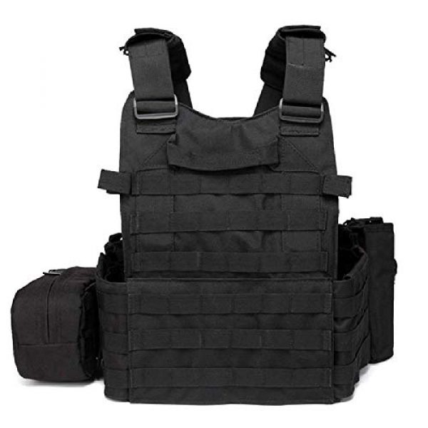 BGJ Airsoft Tactical Vest 2 Tactical 6094 Molle Vest Military Combat Body Armor Vest Army Airsoft Paintball Wargame Plate Carrier Vest Hunting Accessories