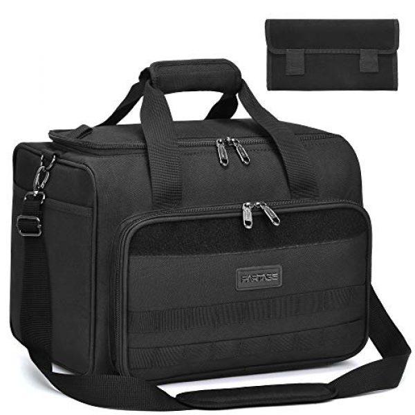 Partage Pistol Case 1 Partage Gun Range Bag Deluxe Pistol Shooting Range Duffle Bags with Velvet Cushion -Black