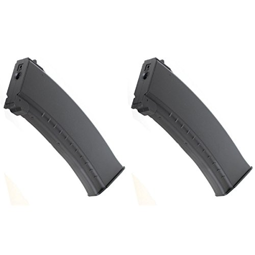 Airsoft Shopping Mall  1 Airsoft Shooting Gear 2pcs Pack CYMA ABS 150rd Mid-Cap Magazine for AK-Series AEG Black