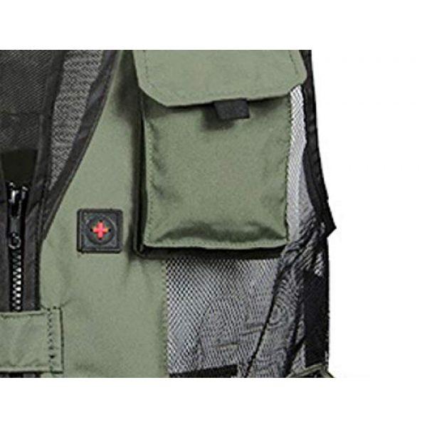 DAFREW Airsoft Tactical Vest 7 DAFREW Men's Vest Quick-Drying mesh Breathable Vest Multi-Pocket Vest Outdoor Leisure Photography Vest (Color : Black2, Size : M)