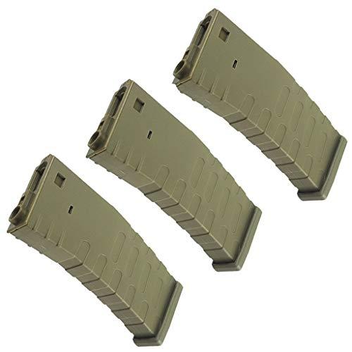 Generica  1 Generica Airsoft Spare Parts APS 3pcs Hi-Cap U Mag Magazine for FMR/ASR/UAR/M4 Series AEG Brown Tan