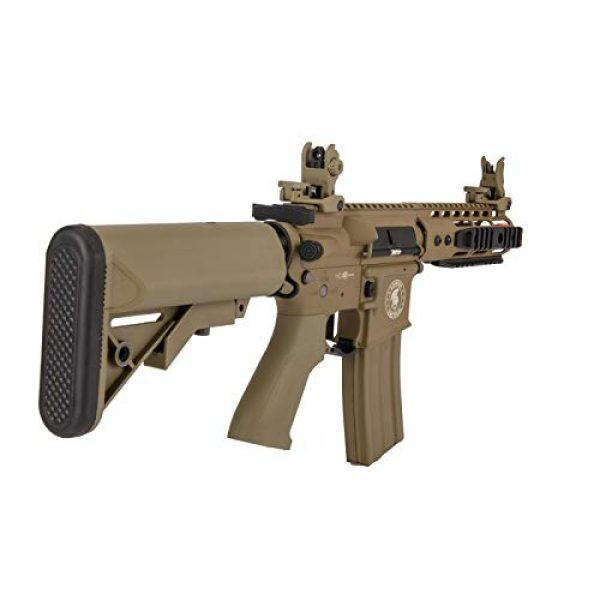 """Lancer Tactical Airsoft Rifle 3 Lancer Tactical Proline 9"""" KeyMod with Picatinny Carbine AEG Airsoft Rifle Tan 395 FPS"""