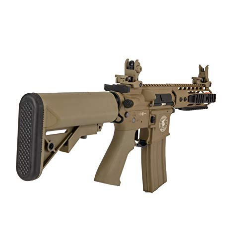"Lancer Tactical  3 Lancer Tactical Proline 9"" KeyMod with Picatinny Carbine AEG Airsoft Rifle Tan 395 FPS"