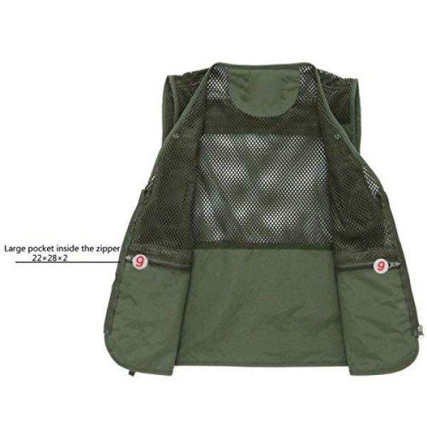 DAFREW Airsoft Tactical Vest 3 DAFREW Thin Vest Men's Outdoor Vests Casual Fishing Breathable Vests Summer Quick-Drying Vest (Color : Khaki, Size : L)