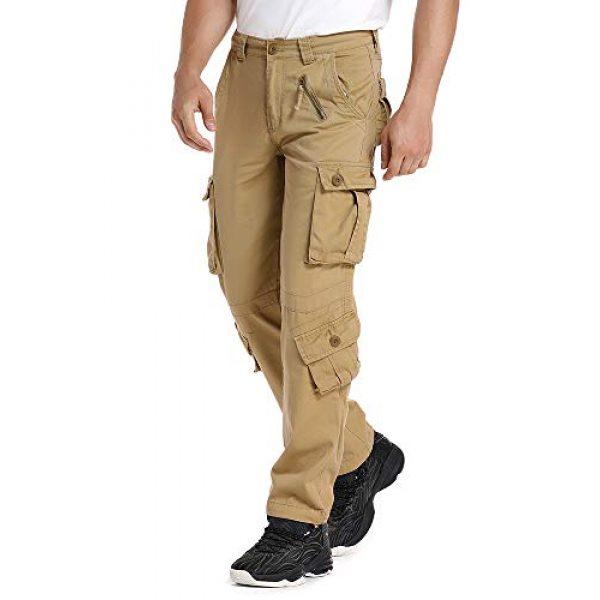 linlon Tactical Pant 2 Mens Cargo Pants, Camo Tactical Pants BDU Combat Work Pants with 8 Pockets