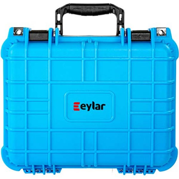 Eylar Pistol Case 4 Eylar Tactical Hard Gun Case Water & Shock Proof with Foam 13.37 inch 11.62 inch 6 inch Light Blue