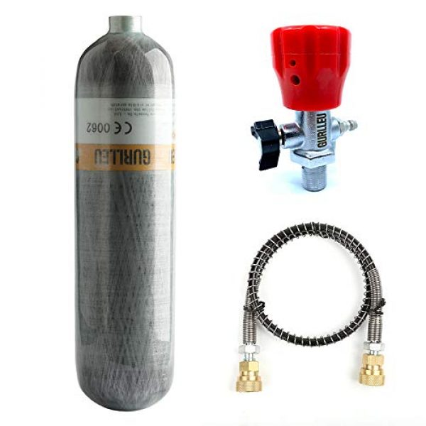 IORMAN Airsoft Gun HPA Tank 3 IORMAN 30 Cu.Ft / 4500 PSI Carbon Fiber Tank Cylinder Station with DIN Valve & Protective Bag (Empty Bottle)
