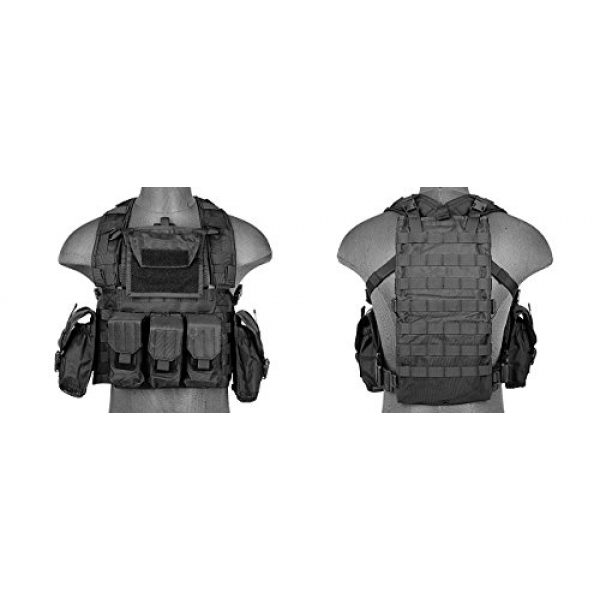 LT Airsoft Tactical Vest 2 LT Airsoft Tactical Vest Modular Rig Mag Pouch Hydration Pouch Multi Colors