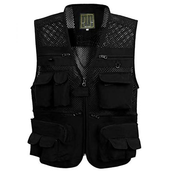ZHYLOVE Airsoft Tactical Vest 1 ZHYLOVE Multifunction Mens Fishing Vest Jacket Mesh Vest Sleeveless Multi-Pocketed Thin Section Outdoor Breathable Hollow Out Thin for Camping Photography Fishing Hunting Waistcoat