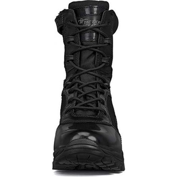 """Belleville Tactical Research TR Combat Boot 4 Belleville Tactical Research TR Men's Class-A TR908Z 8"""" Hot Weather High Shine Side-Zip Boot"""