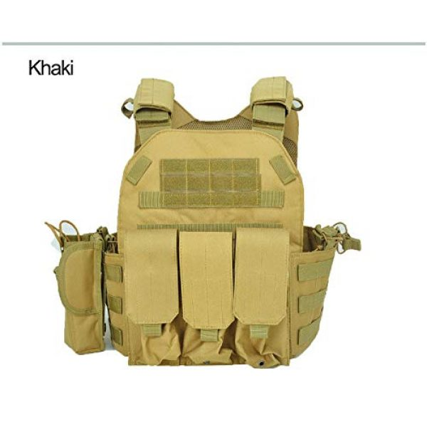 BGJ Airsoft Tactical Vest 2 BGJ Military Tactical Vest Army Airsoft Molle Vest CS Game Combat Gear Outdoor Various Accessory Kit Hunting Clothing Vest Multicam