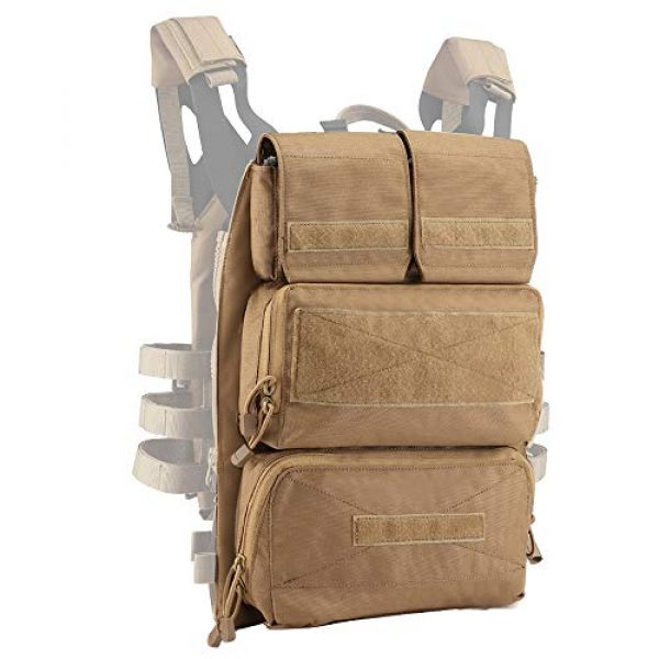 DETECH Airsoft Tactical Vest 2 DETECH Tactical JPC MOLLE Vest with Backpack Expand Bag for Airsoft Paintball Hunting