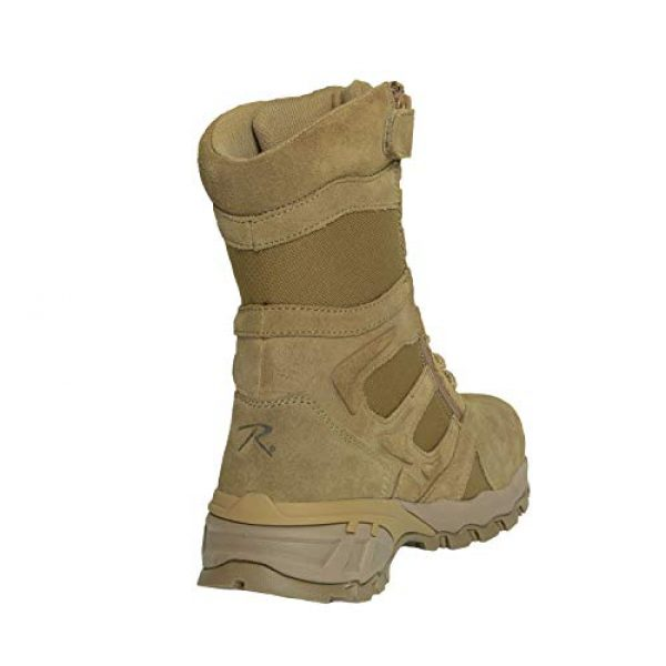"""Rothco Combat Boot 3 8"""" Forced Entry Composite Toe AR 670-1 Coyote Brown Tactical Boot"""