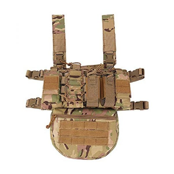 BGJ Airsoft Tactical Vest 3 Outdoor Tactical Vest Military Airsoft Shooting Combat Chest Rig Army Battle Nylon Molle Vest Bag Hunting CS Match Waist Pack