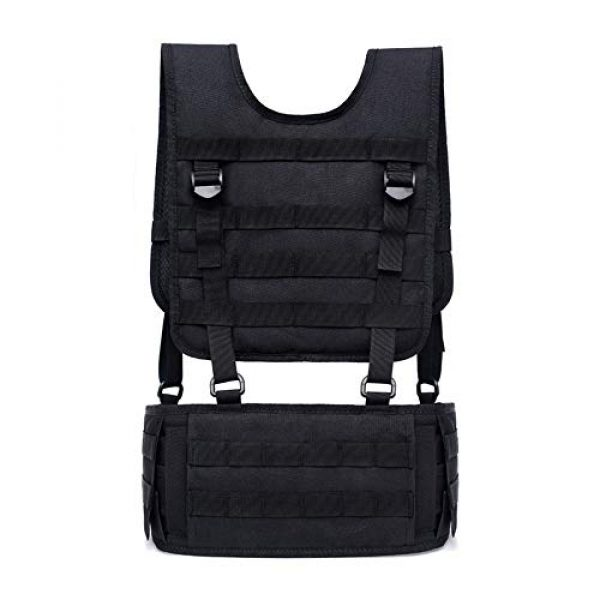 Sunny Airsoft Tactical Vest 5 Outdoor Sports Airsoft Gear Molle Pouch Bag Carrier Camouflage Combat Assault Molle Vest Tactical Chest Rig