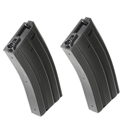 Generica  1 Airsoft Spare Parts APS 2pcs 300rd Hi-Cap Magazine for APS M4 M16 UAR Tokyo Marui Matrix G&P CYMA E&C D-Boys M4 M16 Series AEG Black