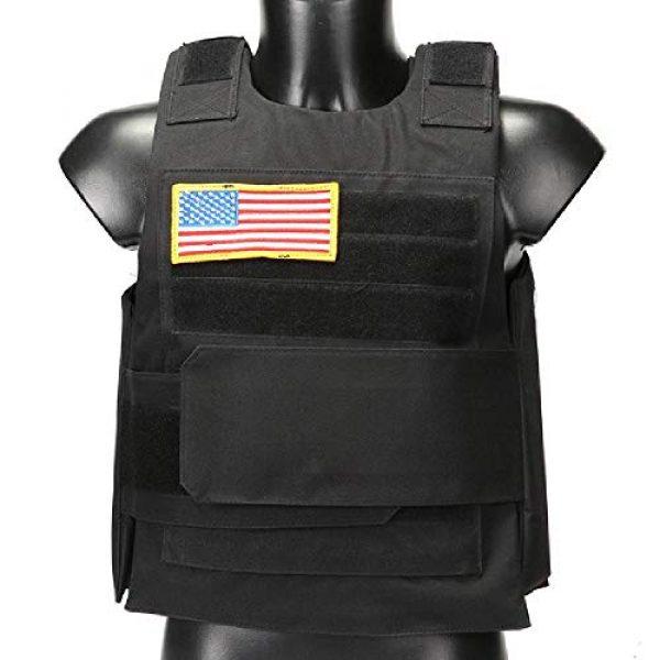 BGJ Airsoft Tactical Vest 1 Hunting Combat CS Vest Black Hawk Green Sports Vest Down Body Armor Plate Tactical Airsoft Carrier Vest CB Camo Woodland Outdoor