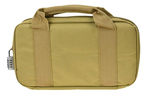 JFFCE Pistol Case 3 JFFCE Tactical Pistol Storage case for Single Pistol and Mag with Heavy Duty Double Zippers