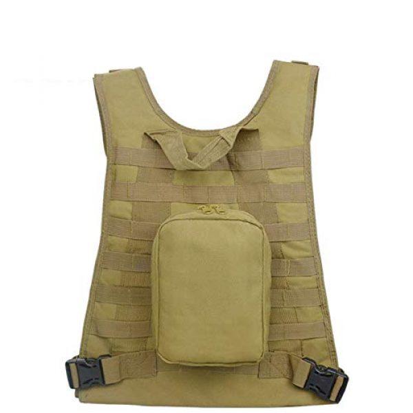 HHFC Airsoft Tactical Vest 3 HHFC Outdoor Nylon Tactical Vest Security Guard Waistcoat Field Combat Training Protective Vest Tactical Molle Airsoft Vest Paintball Combat Soft Vest