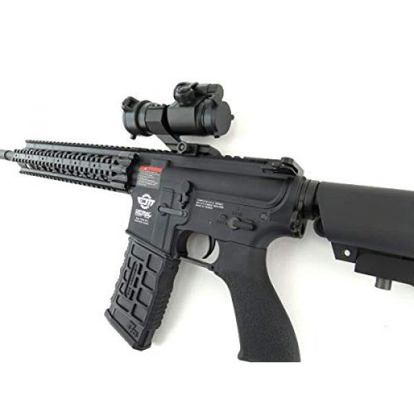 G&G Airsoft Rifle 6 G&G CM16 R8-L Combat Machine M4 AEG Airsoft Gun (Black) w/Red Dot Sight (Combo)