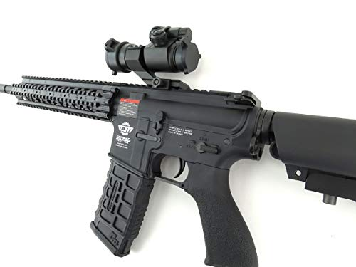 G&G  6 G&G CM16 R8-L Combat Machine M4 AEG Airsoft Gun (Black) w/Red Dot Sight (Combo)