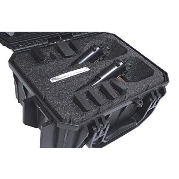 Case Club Pistol Case 3 Case Club 2 Pistol 8 Magazine Pre-Cut Waterproof Case with Silica Gel to Help Prevent Gun Rust