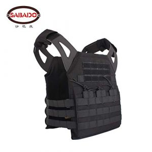 Shefure Airsoft Tactical Vest 6 Shefure Cardura Rip-Stop Military Tactical Combat Vests,Outdoor Hunting Waistcoats Anti-stab Thickening Paintball Vest