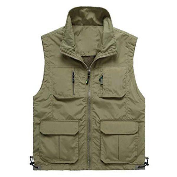 DAFREW Airsoft Tactical Vest 1 DAFREW Casual Vest Thin Section Spring and Autumn Vest Men's Multi-Pocket Outdoor Photography Vest Middle-Aged Vest (Color : Khaki, Size : M)