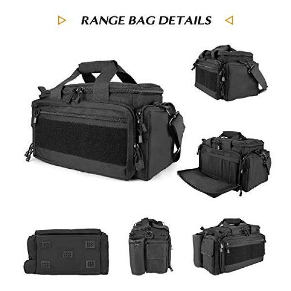ProCase Pistol Case 3 ProCase Tactical Gun Range Bag Pistol Shooting Duffle Bag Bundle with Tactical Pistol Mag Pouch -Black