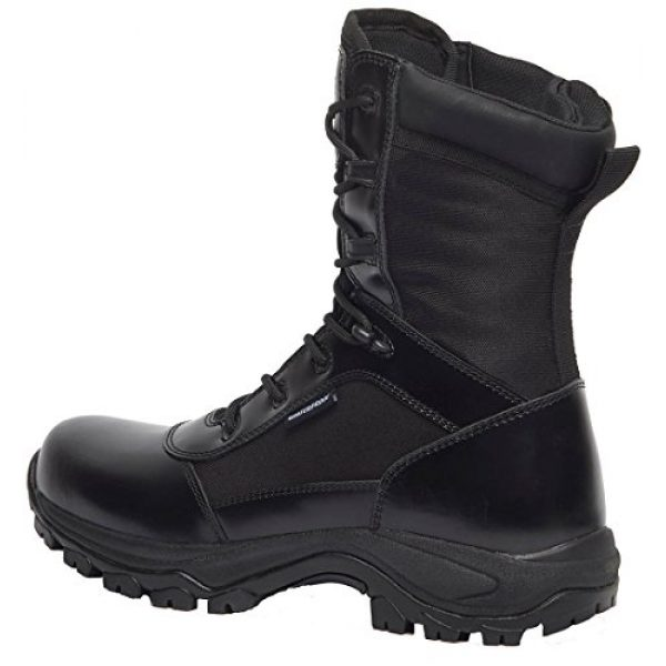 "Belleville Tactical Research TR Combat Boot 1 Belleville Tactical Research TR Men's Class-A TR908Z WP 8"" Waterproof High Shine Side-Zip Boot"