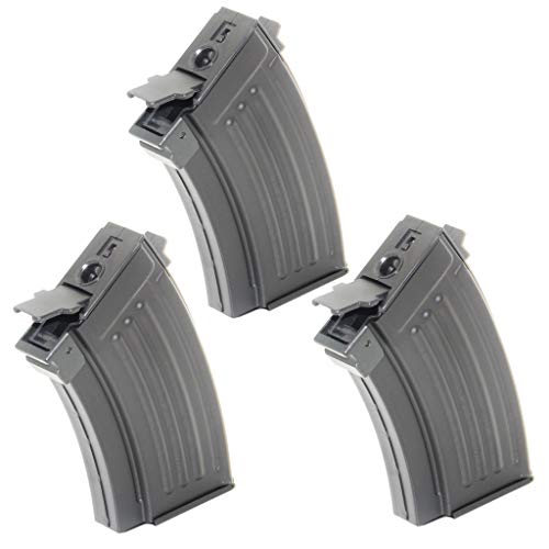 Generica  1 Airsoft Spare Parts 3pcs 230rd Mag Short Type Hi-Cap Magazine for AK-Series AEG Black