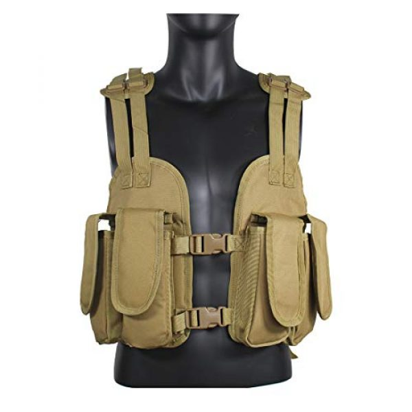 Yoghourds Airsoft Tactical Vest 2 Yoghourds Tactical Vest for Men Airsoft Guns Vest Adjustable Outdoor Combat Training Vest Ultra-Light Breathable for Adults in Hunting Fishing CS Field